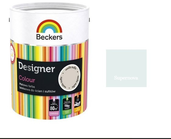 Beckers DESIGNER COLOUR- farba lateksowa, Supernova, 5 l